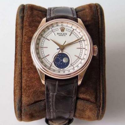 RXW劳力士切利尼系列50535月相男士机械手表多功能真月相腕表