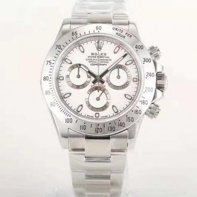 全新订制版劳力士迪通拿专属Cal.4130自动上链机芯男士手表 N厂316白钢迪