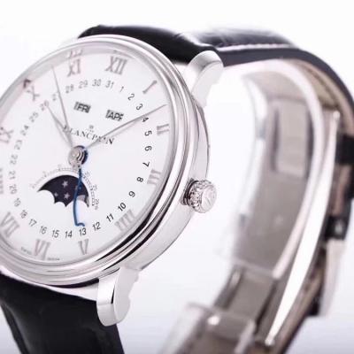 om新品宝珀经典系列6654月相显示 市面最高版本腕表 自制6654机芯 全功能男士手表
