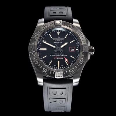 「GF百年灵黑鸟V4终极版」主要在V3版本基础上进行以下升级 橡胶表带 男士机械手表