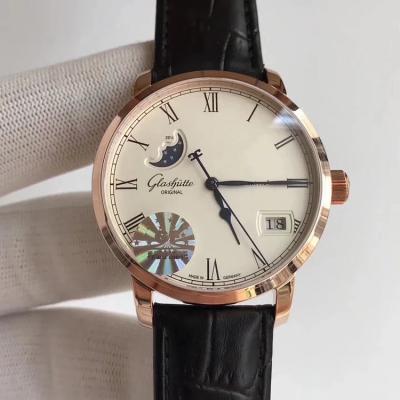 【GF终极版】格拉苏蒂原创议员大日历月相腕表100-04-32-12-04 男士手表