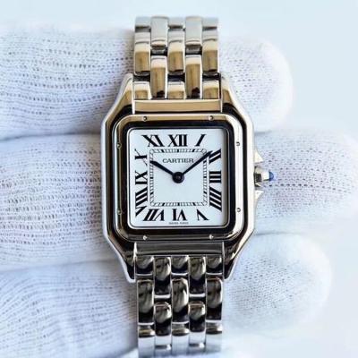 GF最强女表系列??卡地亚猎豹Panthère de Cartier 精钢表带 石英机芯 女士手表