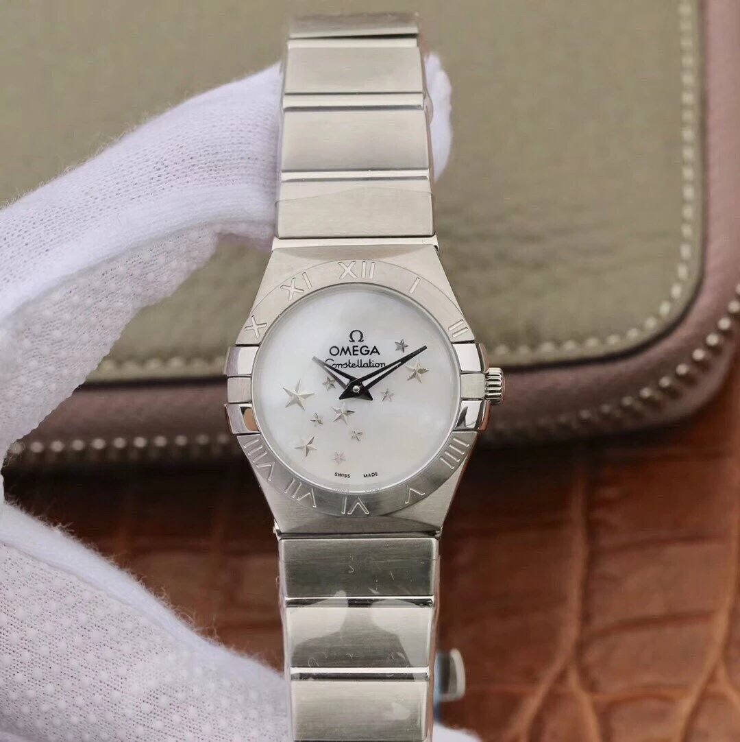 TW欧米茄女款星座系列27mm石英腕表 原装一比一开模  精钢表带