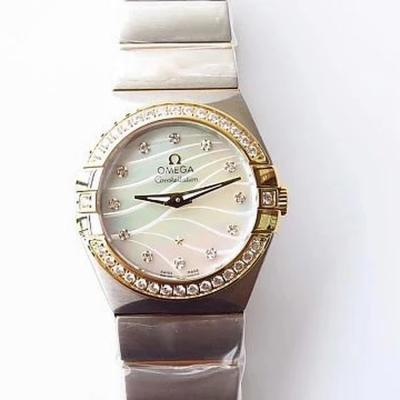 3s欧米茄星座系列 27毫米石英腕表 首次搭载原版欧米茄1376专用机芯(机芯同原装一样)
