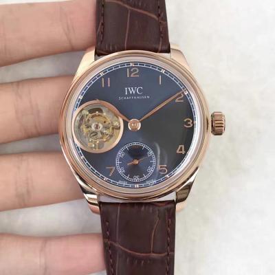 品牌:万国(葡萄牙陀飞轮系列)TF精品款式: 全自动机械 皮带表 男士手表