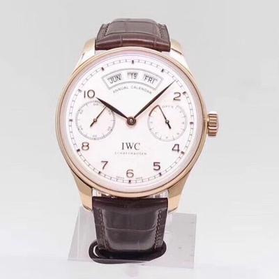 新品  YL出品万国 IW503502 镜面为双面防反光拱形边缘蓝宝石玻璃表镜 男士手表