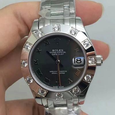 BP出品 女款、劳力士Rolex 日志型 DateJust 女装 镶钻 自动机械 精钢表带