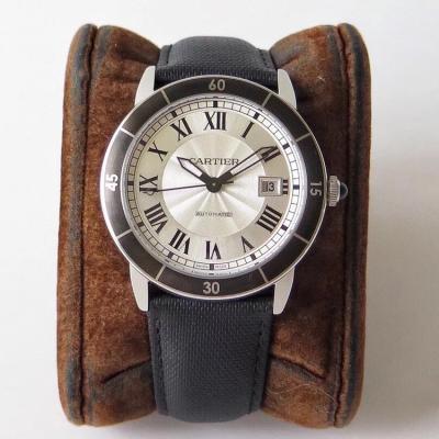 GP出品:Ronde de Cartier 一枚优秀的表 必定考究细节表壳 42mm