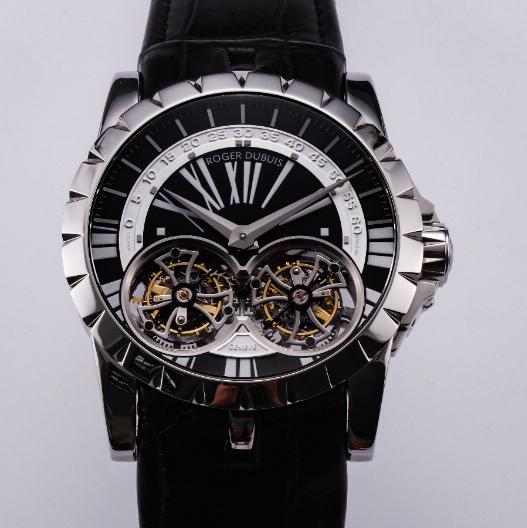 行真陀飞轮稳定运行 史上价值最高JB罗杰杜比王者系列双飞行陀飞轮 搭载两颗飞的复刻手表 男士腕表