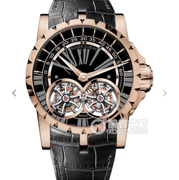JB罗杰杜比王者系列双飞行陀飞轮 搭载两颗飞行真陀飞轮稳定运行 史上价值最高的复刻手表 男士腕表