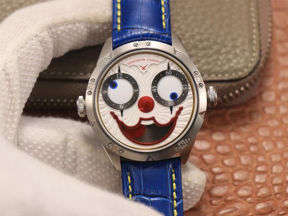 TW俄罗斯小丑【最高版本V3S真功能快调月相】与原版同步 全自动精工机械 男士腕表 皮表带