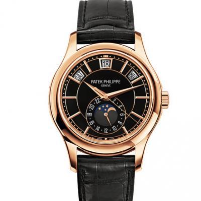 KM百达翡丽复杂功能计时5205R-010皮表带 自动机械男士腕表