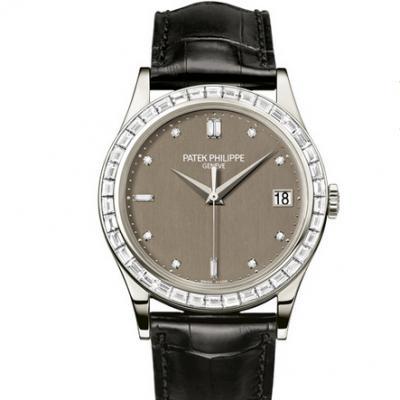 百达翡丽新款Calatrava系列5298P-001男士机械镶钻手表