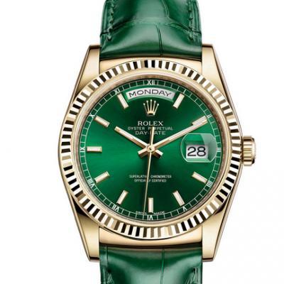 劳力士星期日历型系列118138-0003(FC)皮带全自动机械手表 中性表