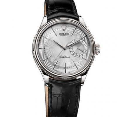 VF劳力士切利尼系列50519-0006皮带男士机械手表 (白盘)