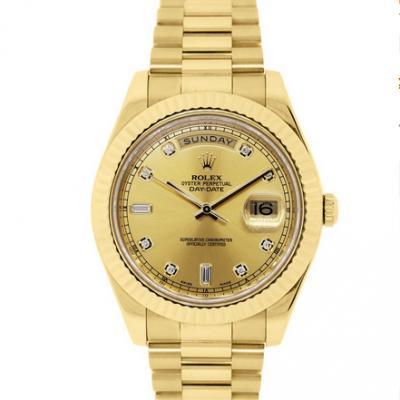CR长荣厂劳力士星期日历型218238男士手表 最好的包金