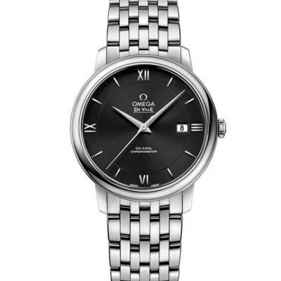 mks厂复刻欧米茄蝶飞系列424.10.40.20.01.001钢带男士机械黑盘手表
