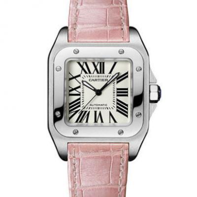 v6卡地亚山度士W20126X8女士全自动机械手表