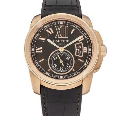 JF厂CALIBRE卡地卡卡历博系列W7100007机械男士手表 玫瑰金款
