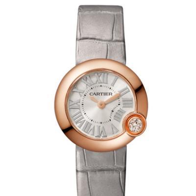 卡地亚BALLON BLANC DE CARTIER系列腕表 石英镶钻女表WGBL0004