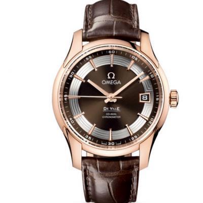 v6厂复刻欧米茄蝶飞系列431.63.41.21.13.001玫瑰金咖啡面男士机械表手表