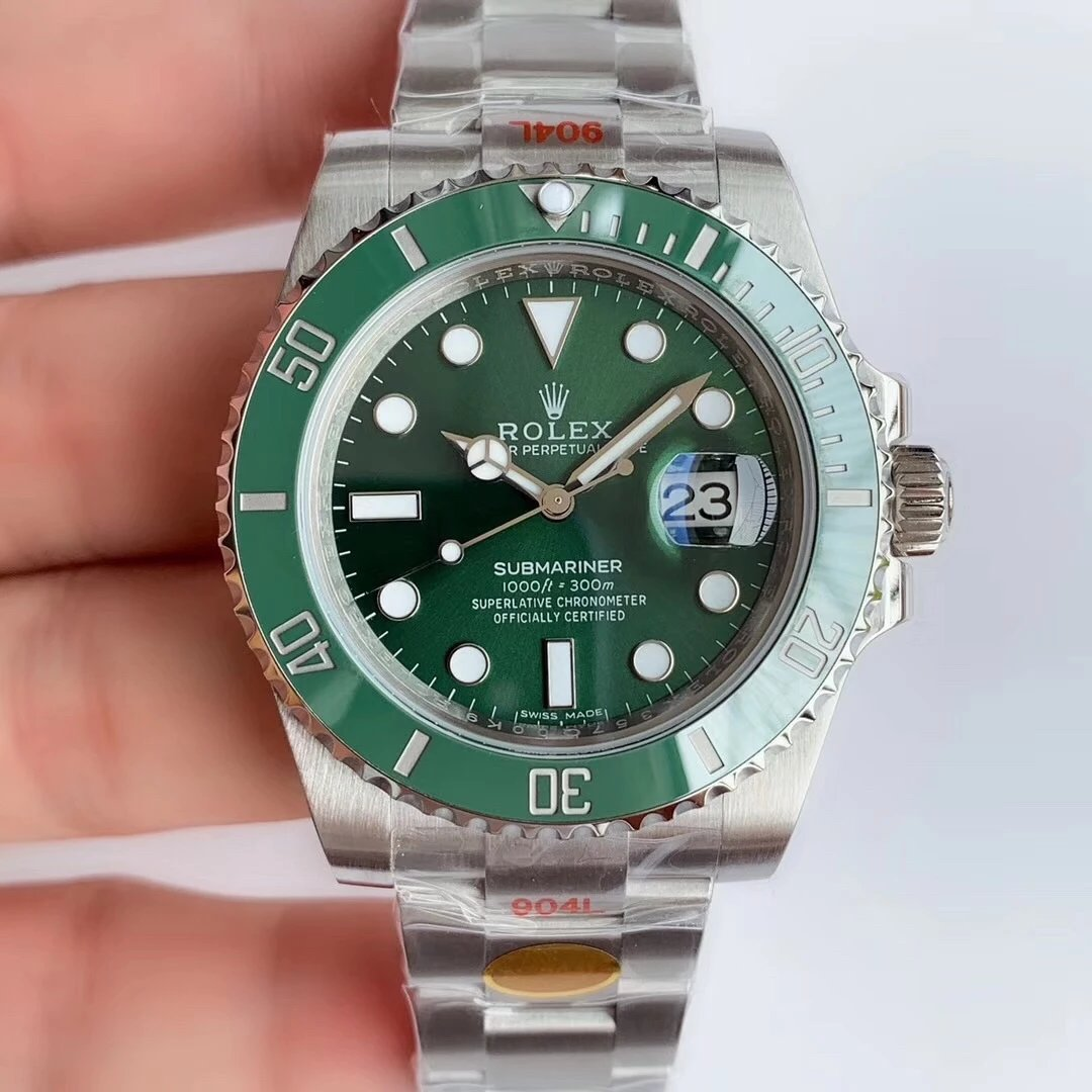 n厂v10绿水鬼最新版本劳力士904钢绿水鬼116610LV-97200手表