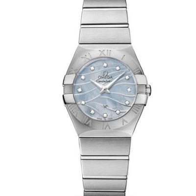 市面最强的欧米茄星座系列123.10.27.60.57.001女士石英手表 蓝面款 高配置以假乱真没