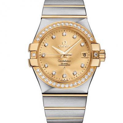 欧米茄星座系列123.25.35.20.58.001机械男士手表 金面
