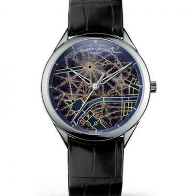 顶级高仿江诗丹顿艺术大师系列86222/000G-B104城市地图男士手表