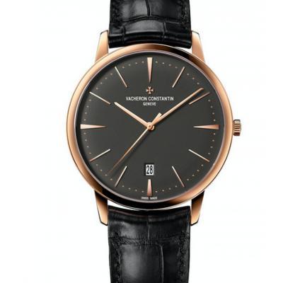 江诗丹顿传承系列85180/000R-9166黑面男士手表