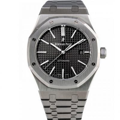 jf厂顶级复刻版本爱彼皇家橡树系列15450ST男士机械黑面手表 v2升级版最新