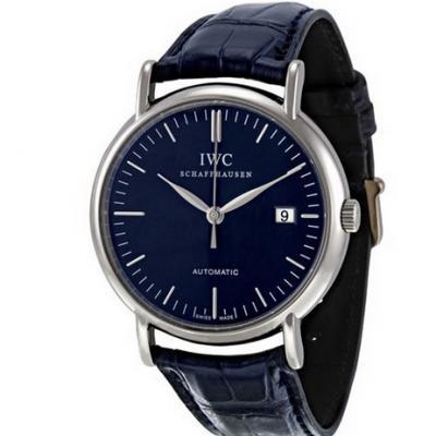 TW厂万国柏涛菲诺IW356304男士机械手表 蓝面