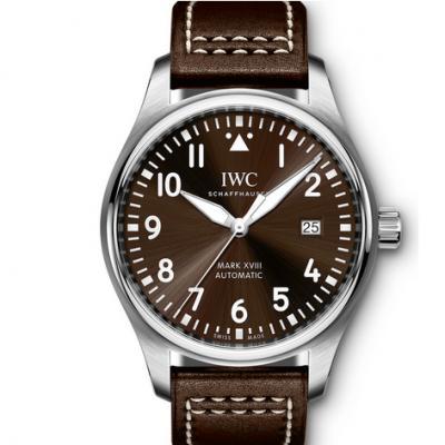 MKS厂万国飞行员系列IW327003马克十八咖啡面男士机械手表