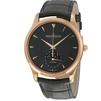 积家超薄大师Q136255J灰色玫瑰金全自动月相男士手表