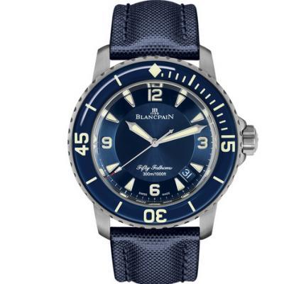 ZF宝珀五十浔新款-宝珀5015男士机械手表 钛壳加背透款