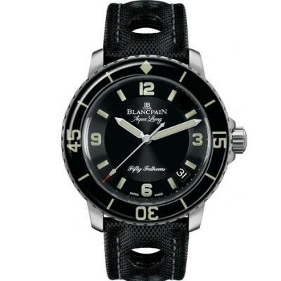 ZF宝珀五十寻典藏精品5015C-1130-52B超级夜光男士机械潜水手表