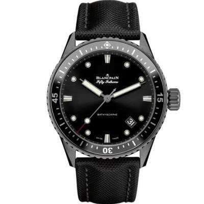 GF厂宝珀五十浔系列5000-0130男士机械手表 新款43.6mm男表