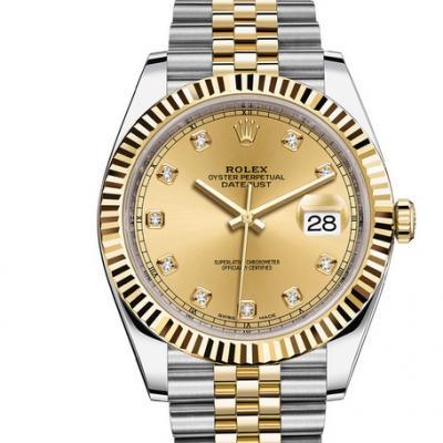 一比一复刻劳力士高仿日志型系列116233香槟盘镶钻腕表