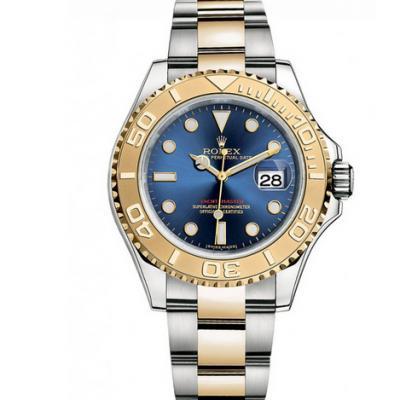 一比一复刻劳力士游艇名仕️16623蓝盘男士机械手表 包金版