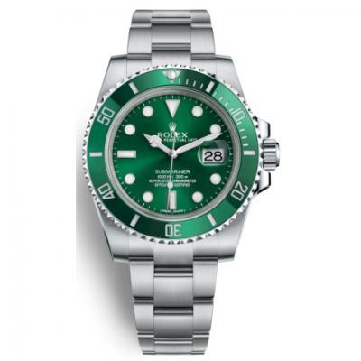 n厂v8s版劳力士绿水鬼(潜航者系列116610LV绿鬼)男士机械手表