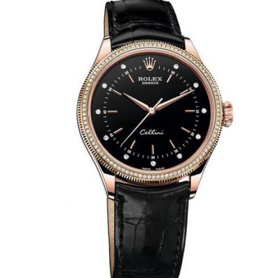 劳力士型号:50605RBR系列切利尼机械男士手表。