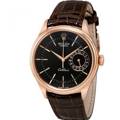 MKS厂劳力士切利尼系列50515玫瑰金男士机械手表