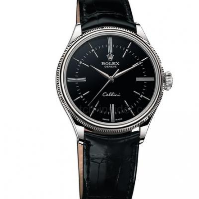 NB劳力士Rolex切利尼系列50509复刻3132自动机械机芯 牛皮表带 男士腕表