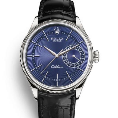 MKS劳力士切利尼系列m50519-0013蓝面男士机械手表
