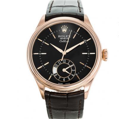 劳力士切利尼50525黑盘机械男士手表。