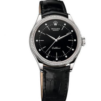 劳力士型号:50609RBR系列切利尼机械男士手表。