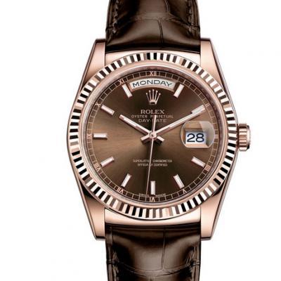 劳力士型号:118135-l(FC)系列星期日历型机械男士手表。