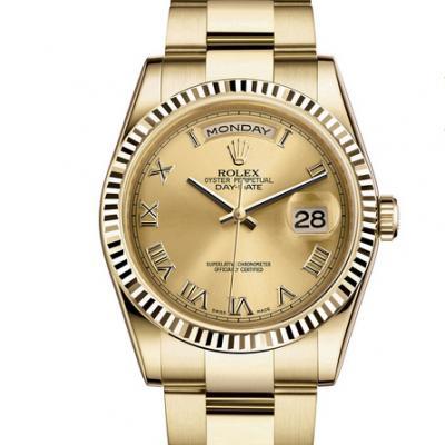 劳力士型号:118238系列星期日历型机械男士手表