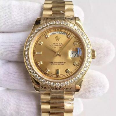 劳力士(Rolex)星期日历型新款男士全自动机械表罗马数字款 218348A-82318腕表