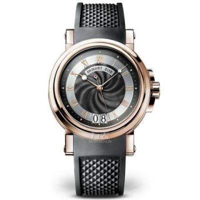 宝玑Marine航海系列5817腕表 18k玫瑰金男士自动机械皮带手表